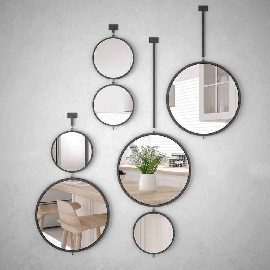 Mirrors in kitchen.