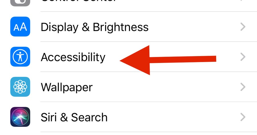 Arrow to iPhone Accessibility