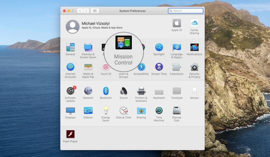 Mission Control on MacOS