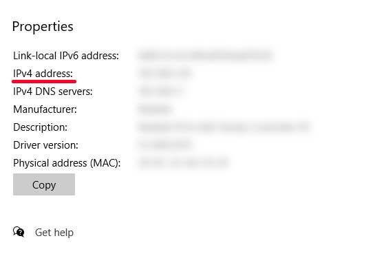 Wi-Fi IP Address
