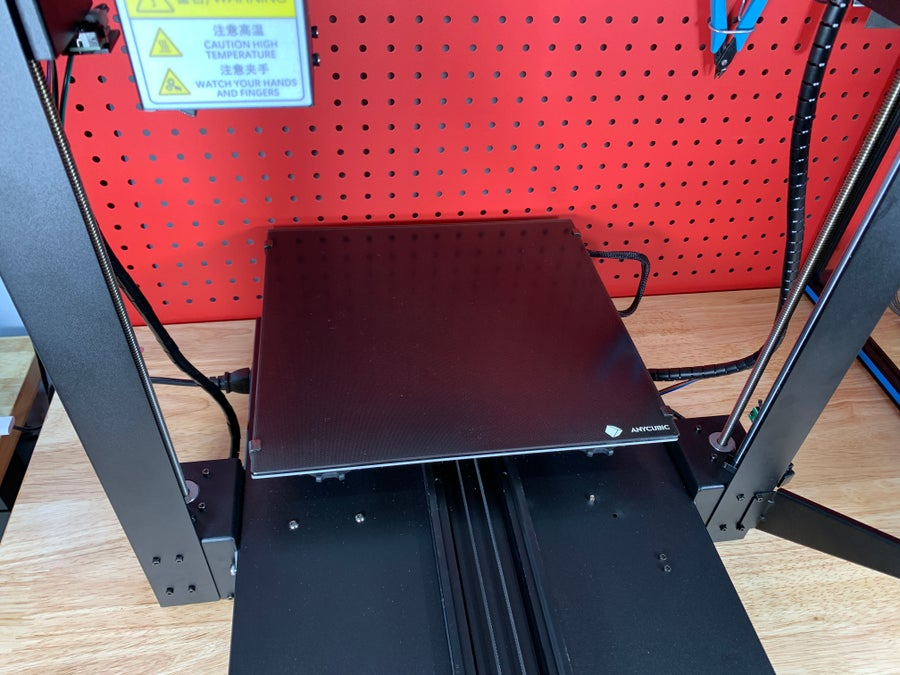Anycubic Mega X y-travel desk and table depth