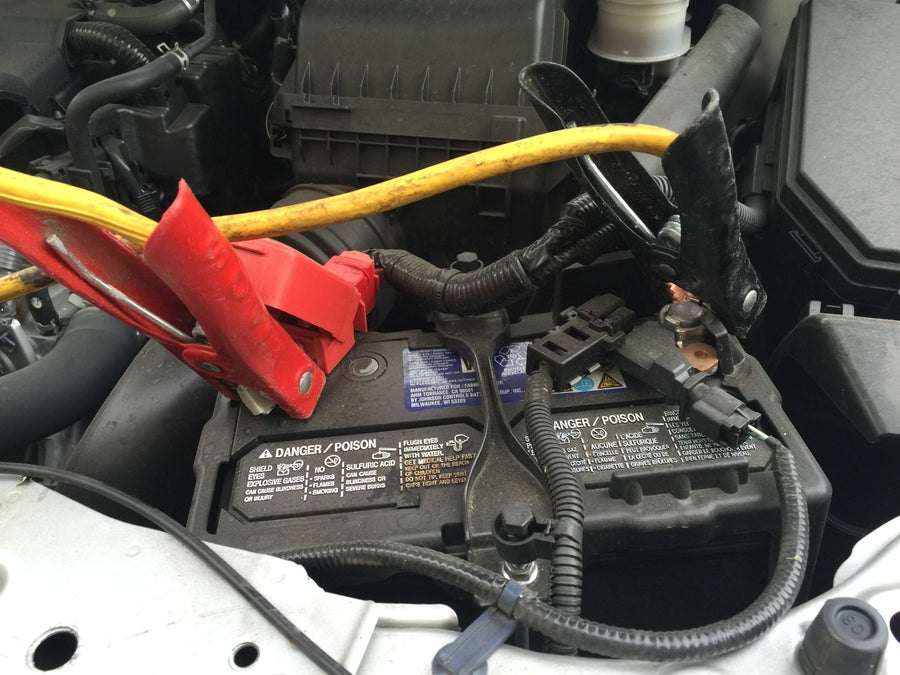 Connect the jumper cables