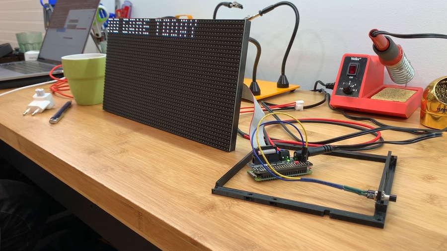 Testing LED panel