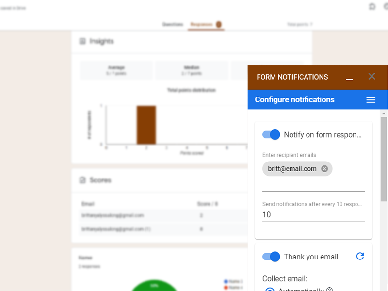google forms addon form notifications