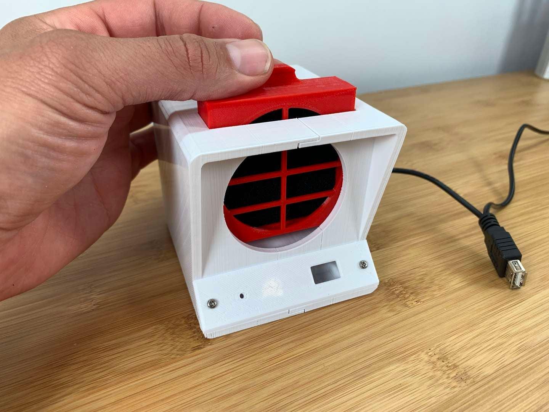 DIY solder fume extractor filter cartridge