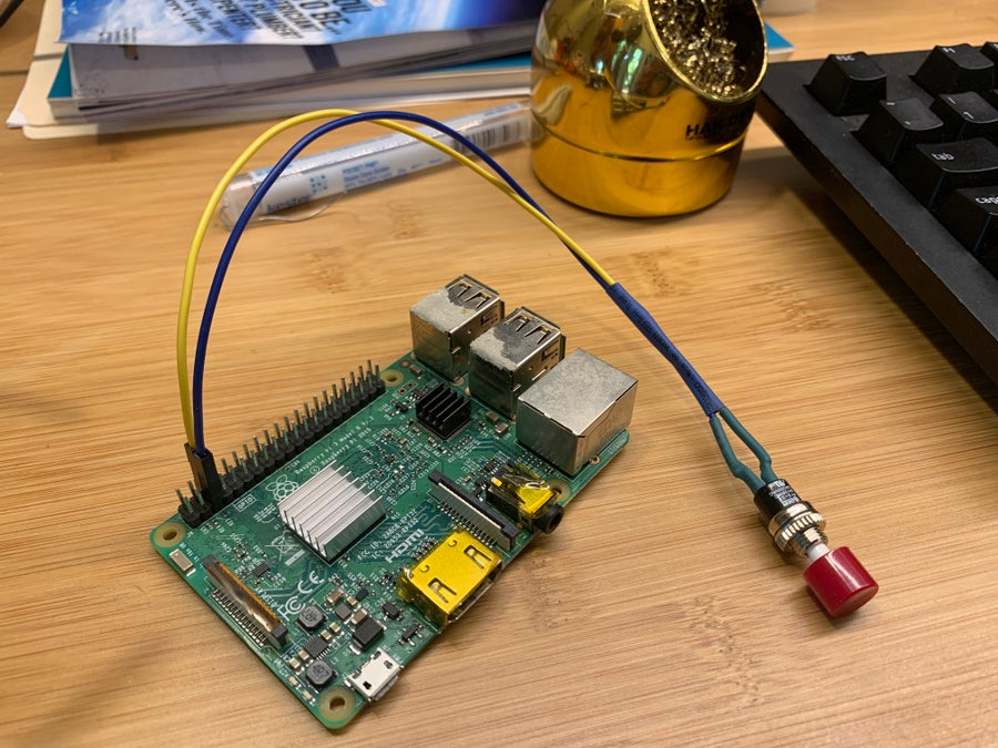 Connecting the button to the Pi