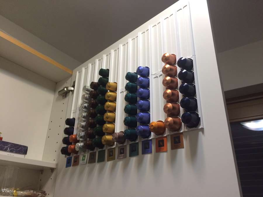 3D-printed Nespresso pod holder