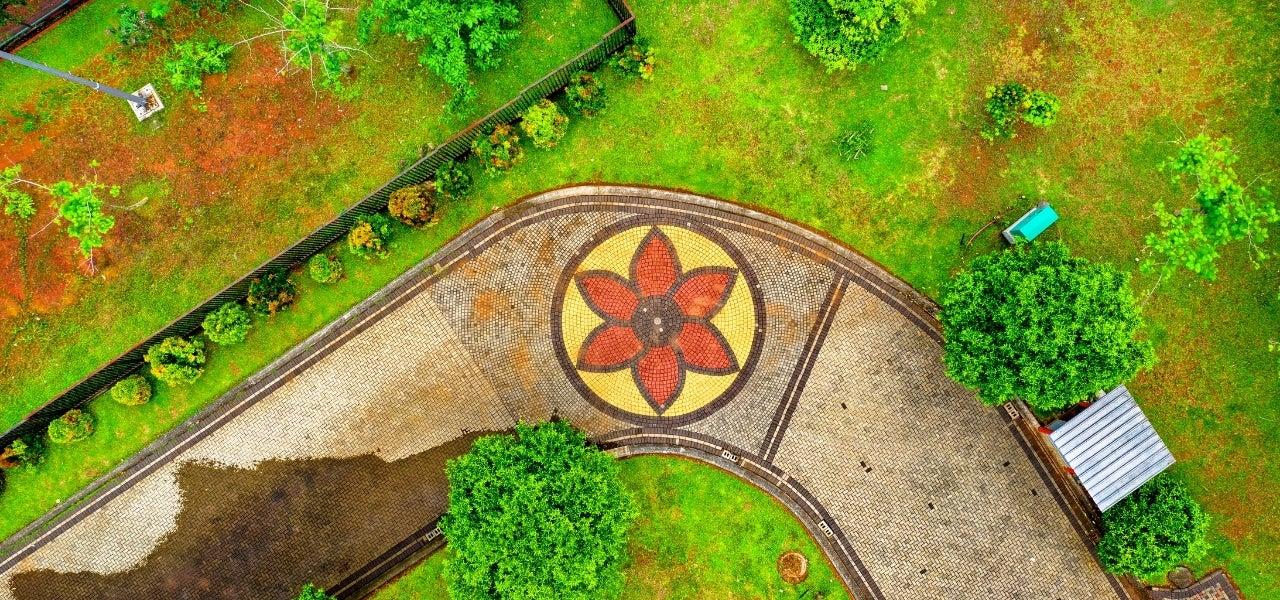 backyard mosaic