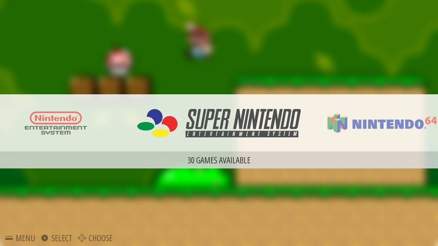 Super Nintendo menu item in RetroPie