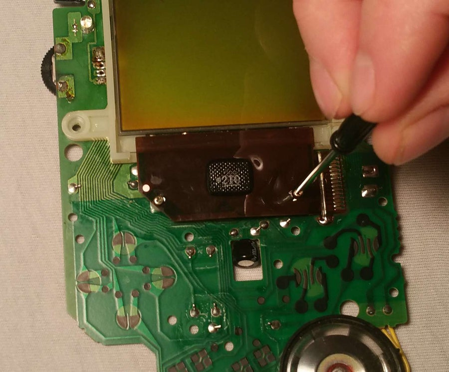 Unscrew the LCD