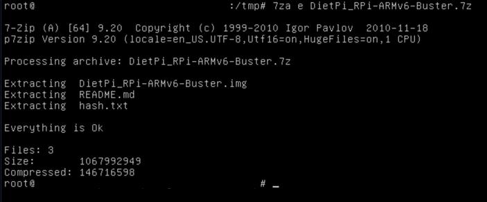Linux p7zip extract