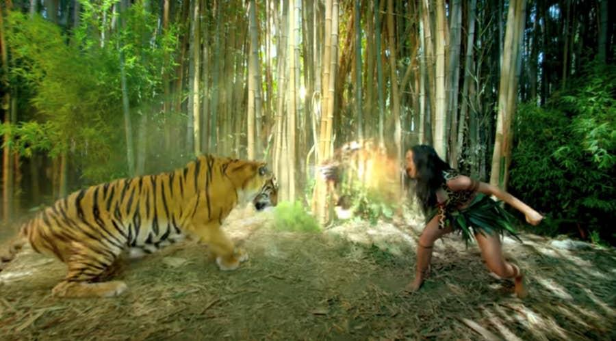 Katy Perry Roar video still