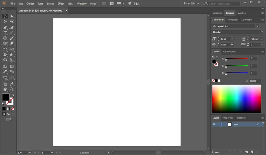 Illustrator Blank Canvas