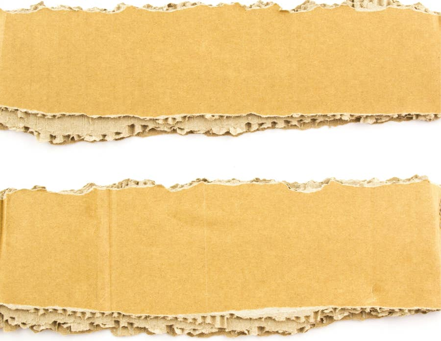 Cardboard strips.