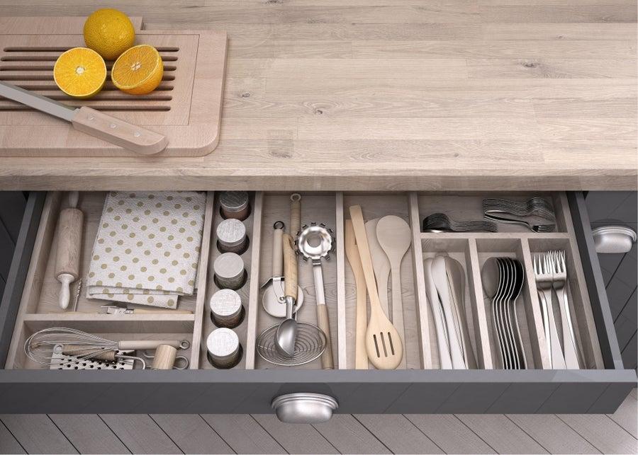 Organized drawers.