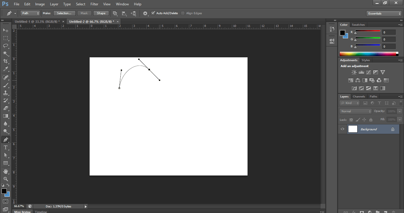 How to Make a Curved Line with the Pen Tool in Photoshop