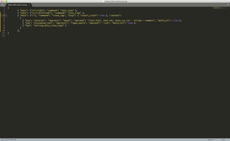 Sublime Text Key Bindings File