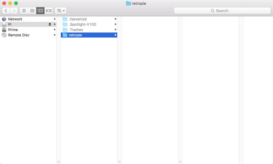 Create the RetroPie folder