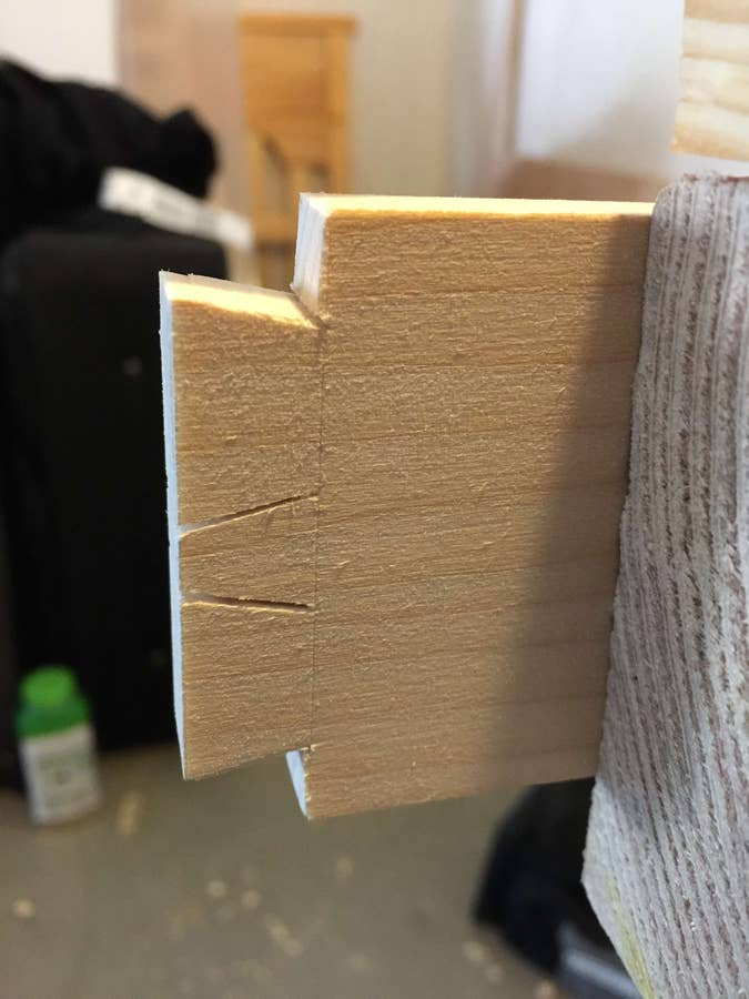 Cut towards the base of the tails on both sides