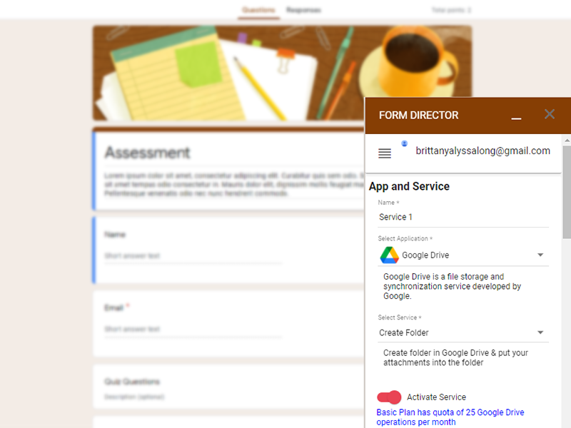 google forms addon form director