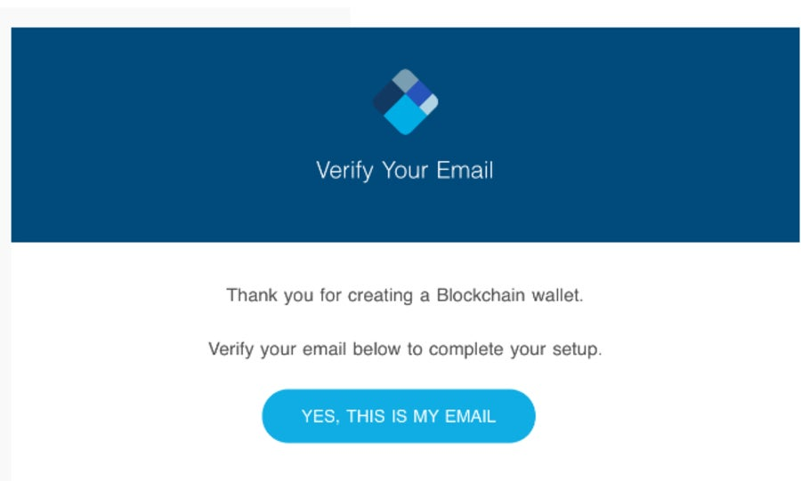 Verify your email address