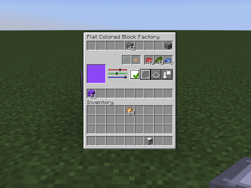 modern flat colored blocks forge mod minecraft
