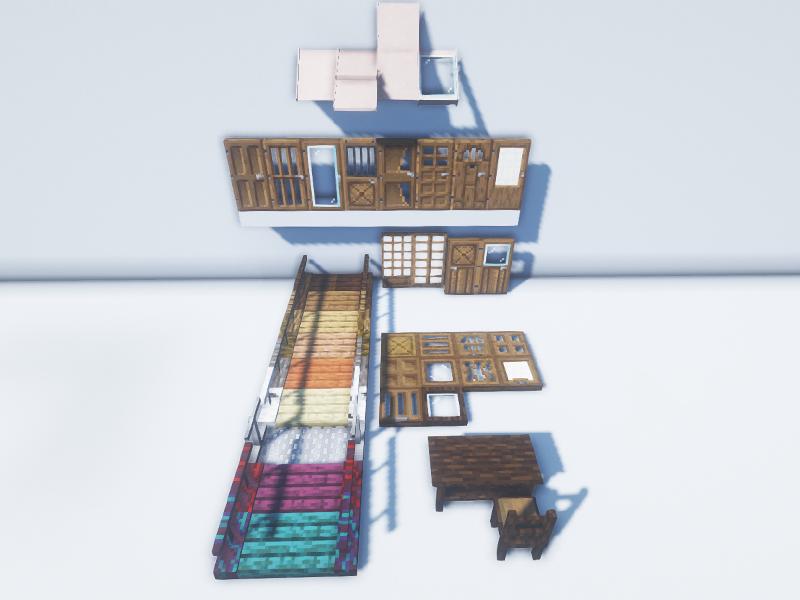 macaw furniture doors windows roofs bridges forge mod minecraft