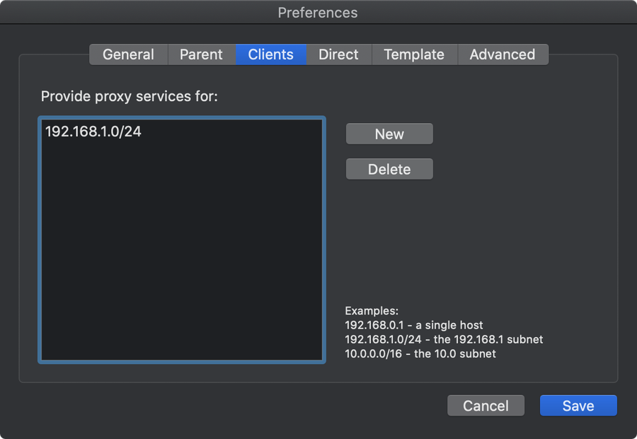 SquidMan on macOS - Configure proxy services