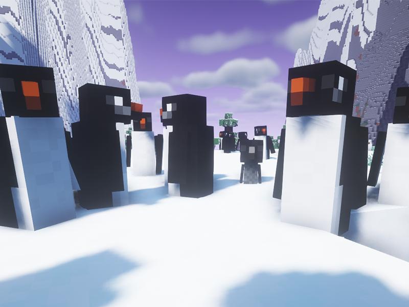 waddles penguins forge mod minecraft
