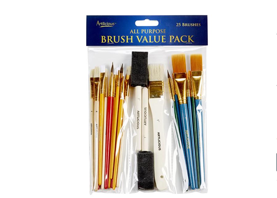 Artlicious paint brush set.