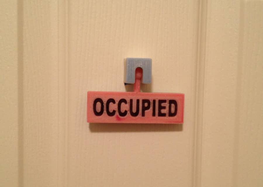 3D printed vacancy sign