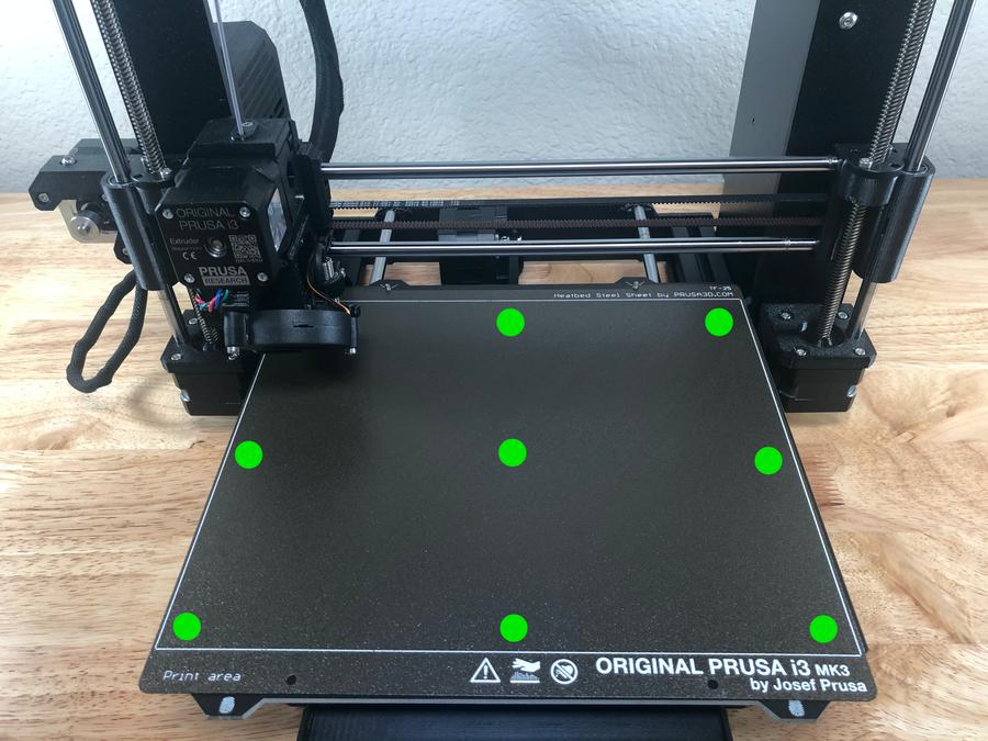 Prusa i3 MK3S mesh bed leveling