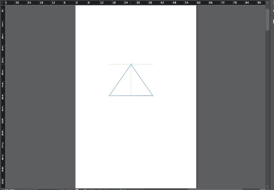 Perfect Triangle in InDesign