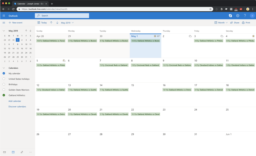 Add your favorite sports team's schedule to Microsoft Outlook Calendar