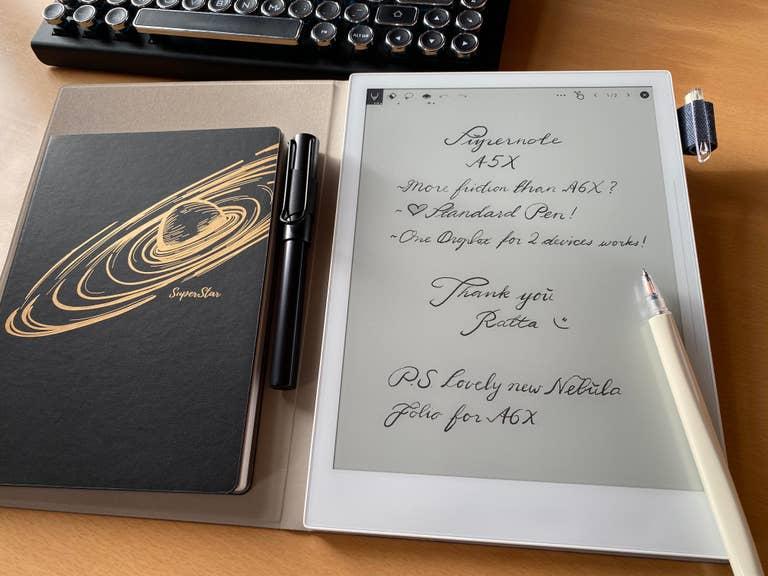 Supernote on desk