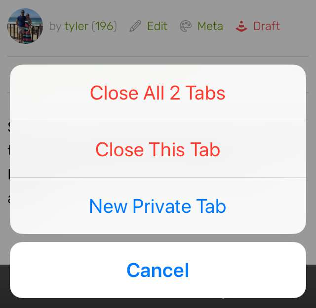 """Select """"Close All n Tabs"""""""