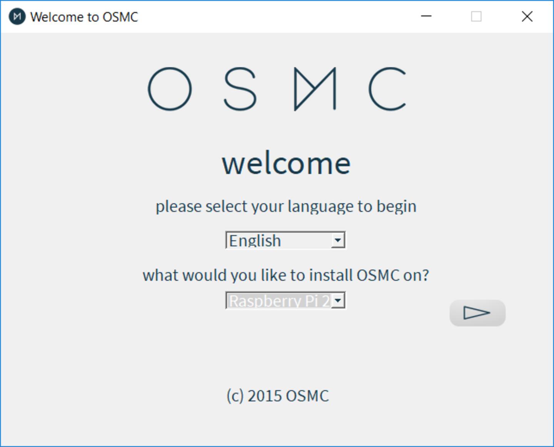 Run the OSMC installer