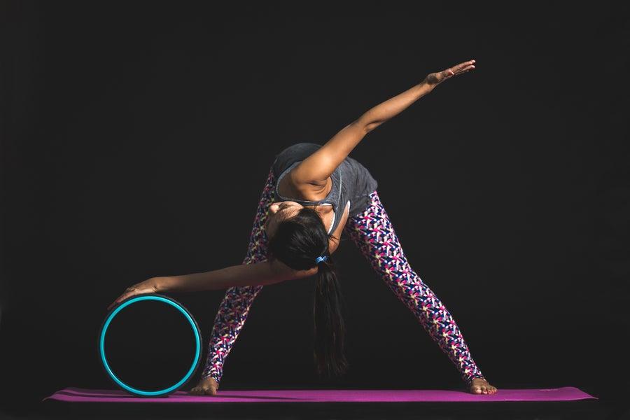 Yoga wheel.