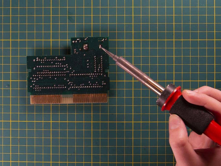 NES solder new battery