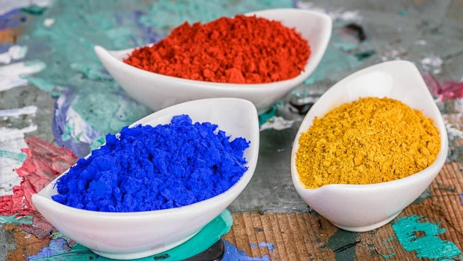 Primary pigments.