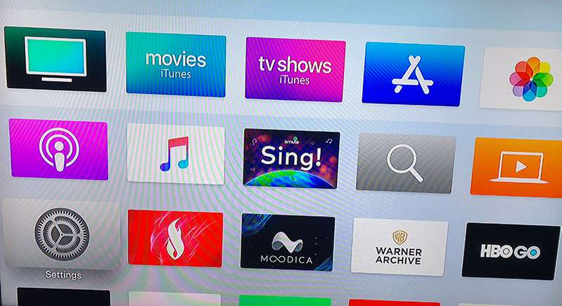 Power on your Apple TV and go to the main screen