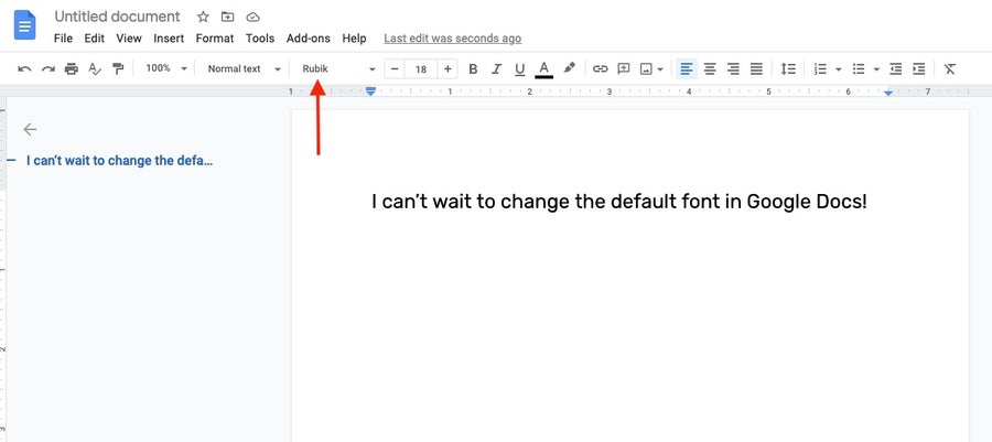 Text in desired font Google Docs