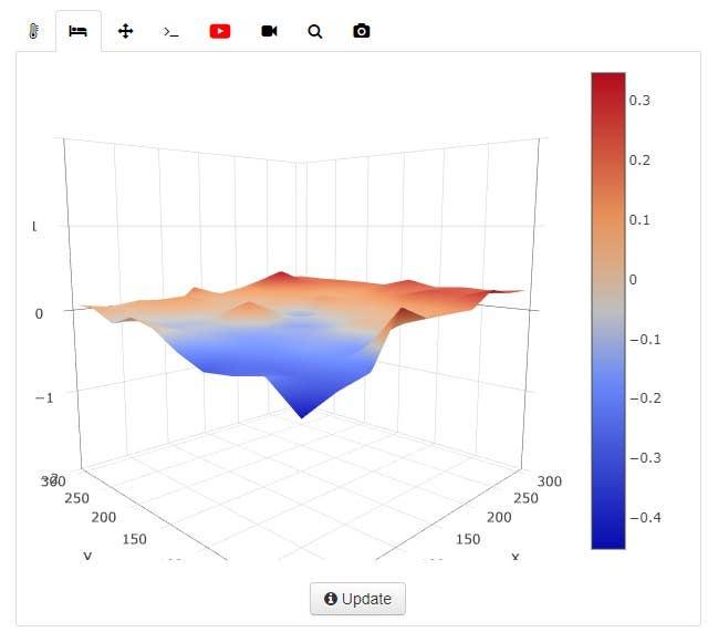 Bed Level Visualizer OctoPrint Plugin screenshot
