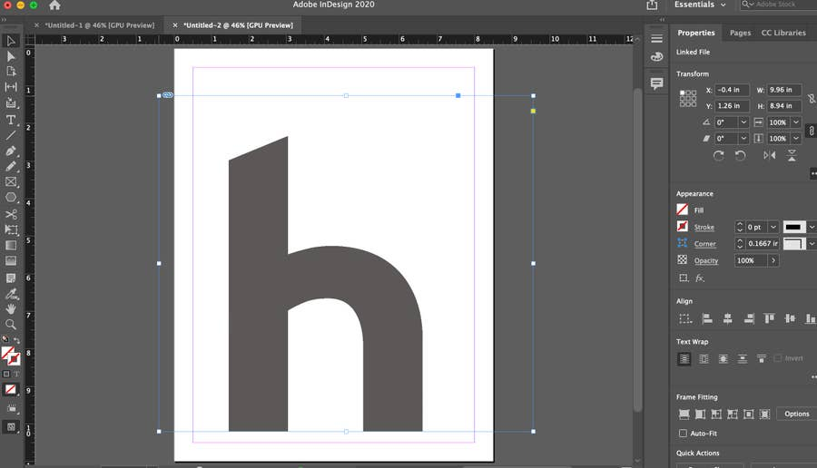 howchoo logo placed in Indesign