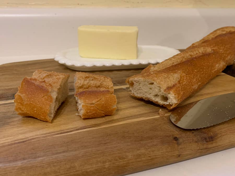 Revived stale bread