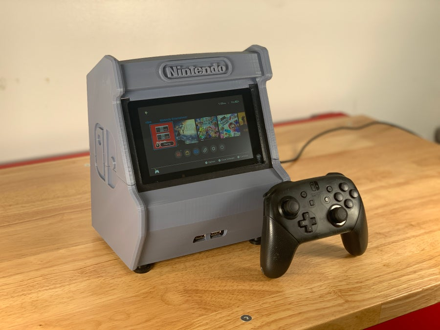 Nintendo Switch arcade cabinet angled view