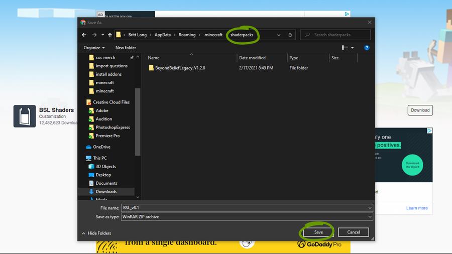 download shader pack curseforge