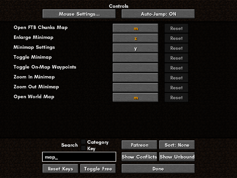 controlling keybinds forge mod minecraft