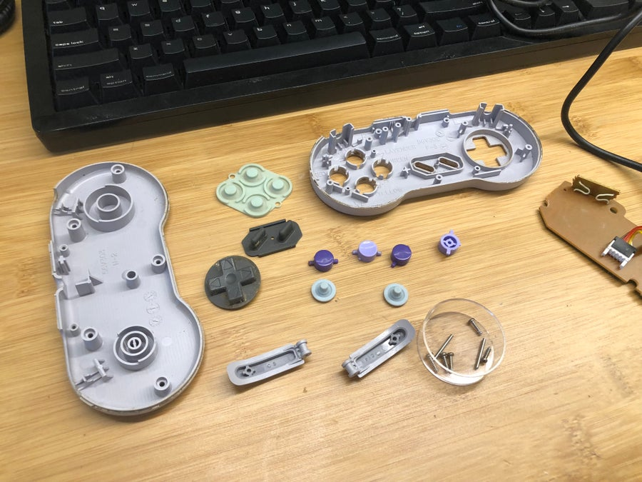 SNES controller teardown and cleaning