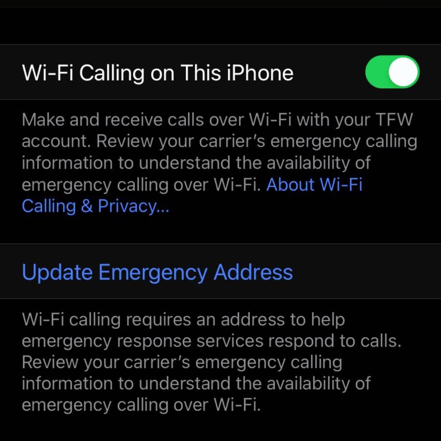 Update Emergency Address